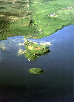 Finlaggan from the air
